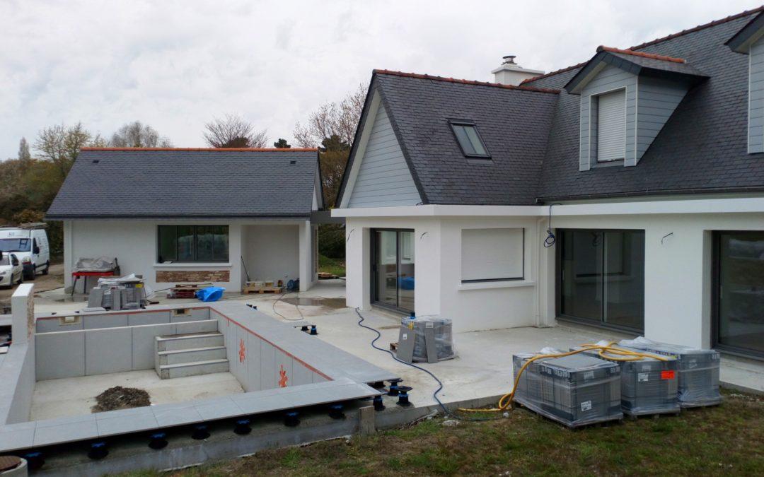 Construction d'une maison neuve à Clohars Fouesnant
